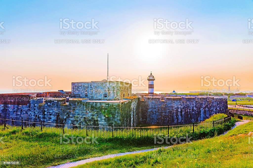 Southsea castle stock photo