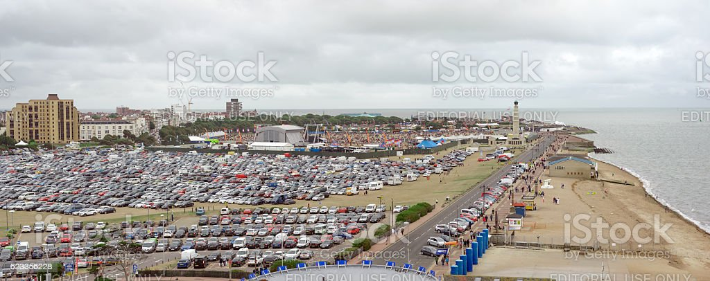 Southsea Common during the Victorious festival stock photo