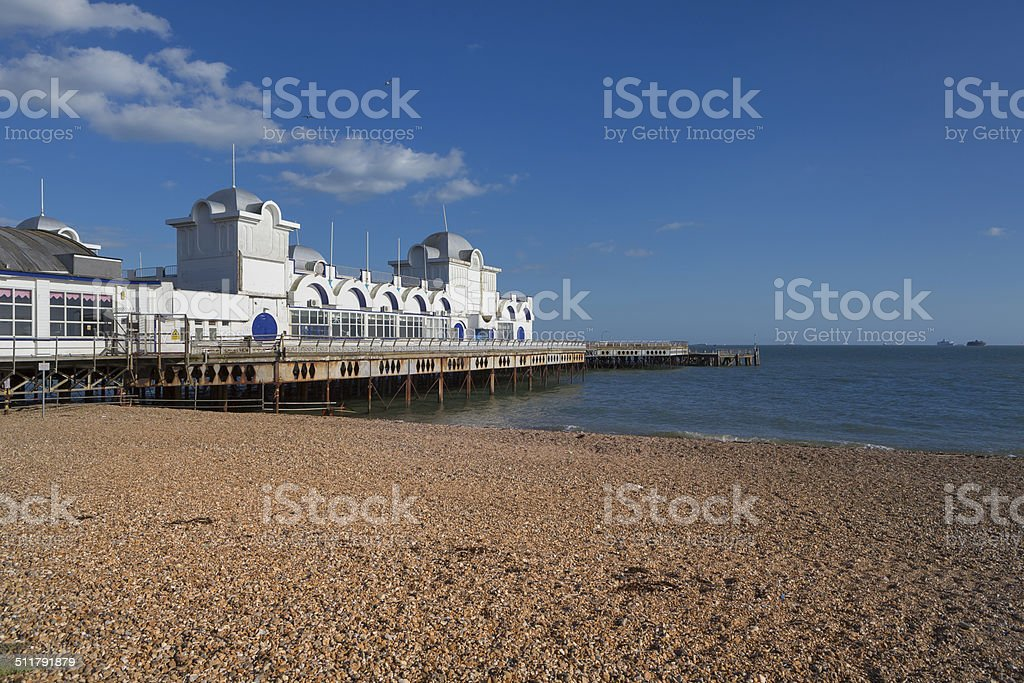 Southsea Pier stock photo