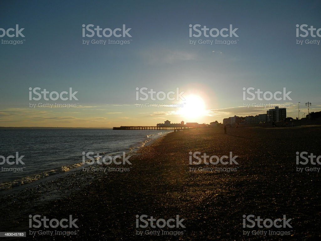 Southsea Pier Sunset stock photo