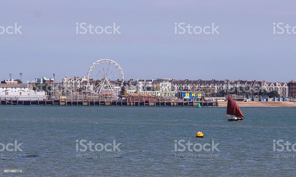 Southsea Portsmouth taken From Gosport stock photo