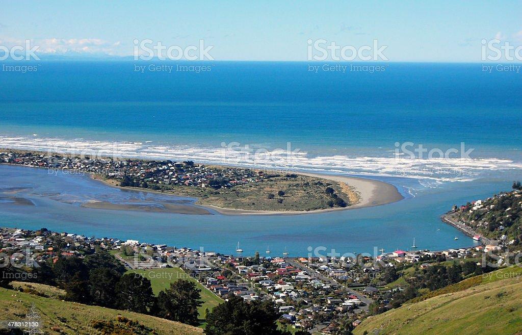 Southside beach Christchurch stock photo