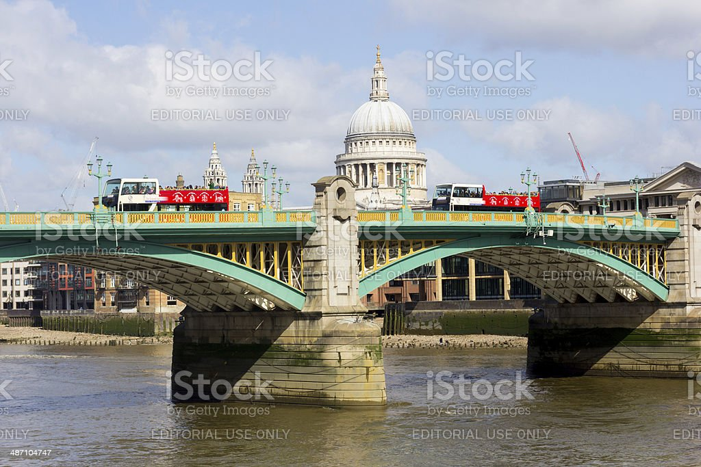 Southwark Bridge in London, England royalty-free stock photo