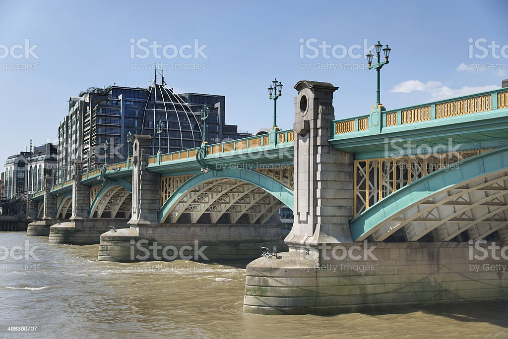 Southwark Bridge London royalty-free stock photo