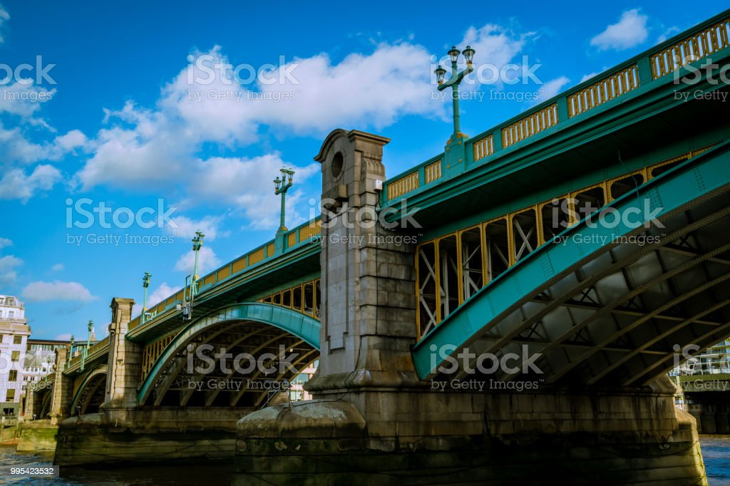 Southwark Bridge, London UK stock photo