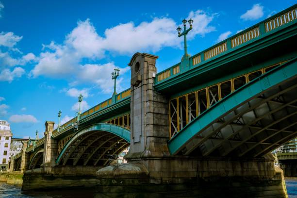Southwark Bridge, London UK stock photo