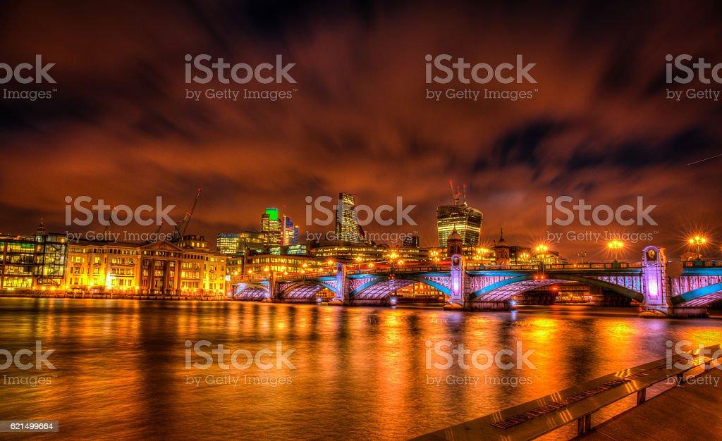 Southwark Bridge panorama foto stock royalty-free