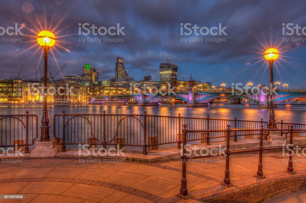Southwark Bridge panorama Lizenzfreies stock-foto