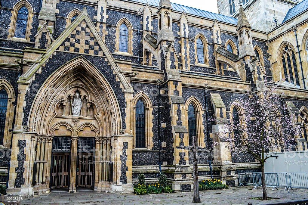 Southwark Cathedral Exterior - London, UK stock photo