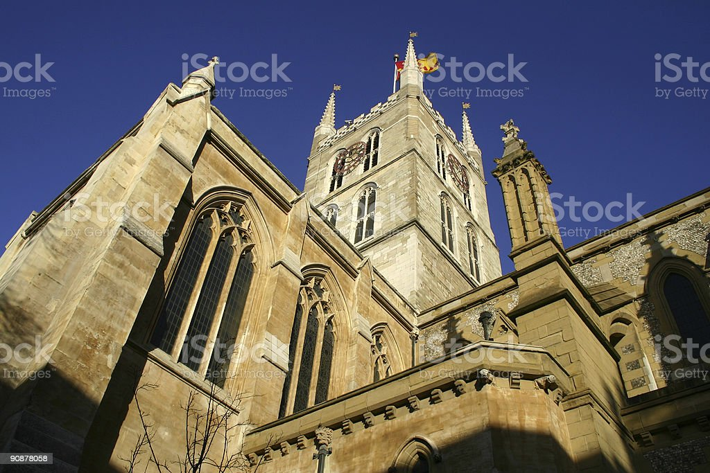 Southwark Cathedral in London, England stock photo