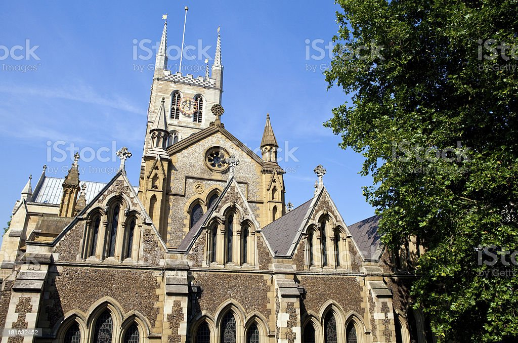 Southwark Cathedral in London stock photo