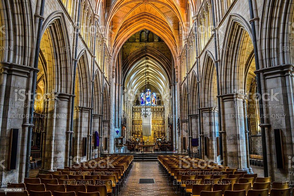 Southwark Cathedral Interior - London, UK stock photo