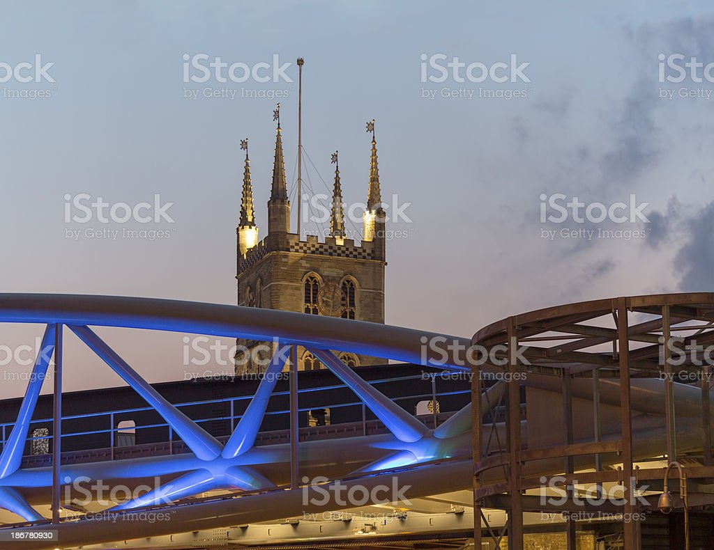 Southwark Cathedral, London stock photo