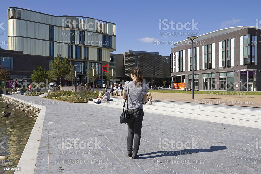 Southwater square opens stock photo