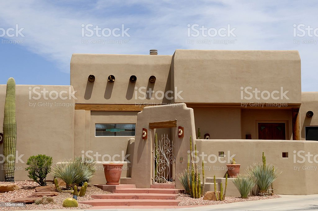 Southwest adobe home stock photo more pictures of adobe for Territorial home designs