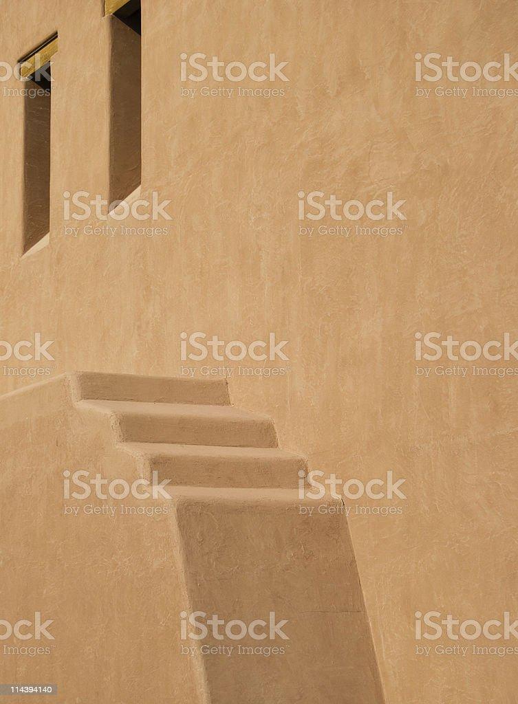 Southwest Adobe Stucco Building stock photo