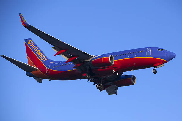 Southwest Airlines 737 Commercial Jet Airplane stock photo