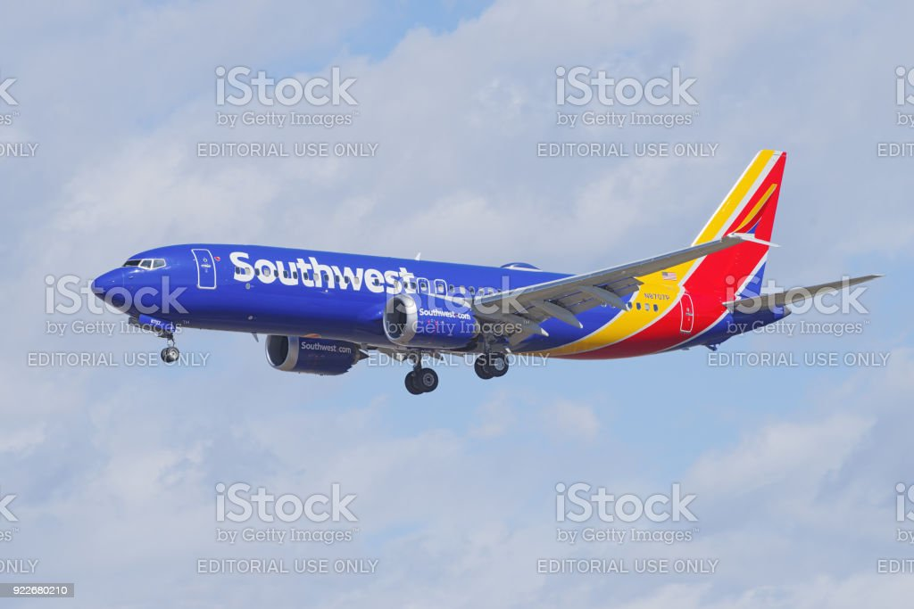 Southwest Airlines Boeing 737 MAX 8 stock photo