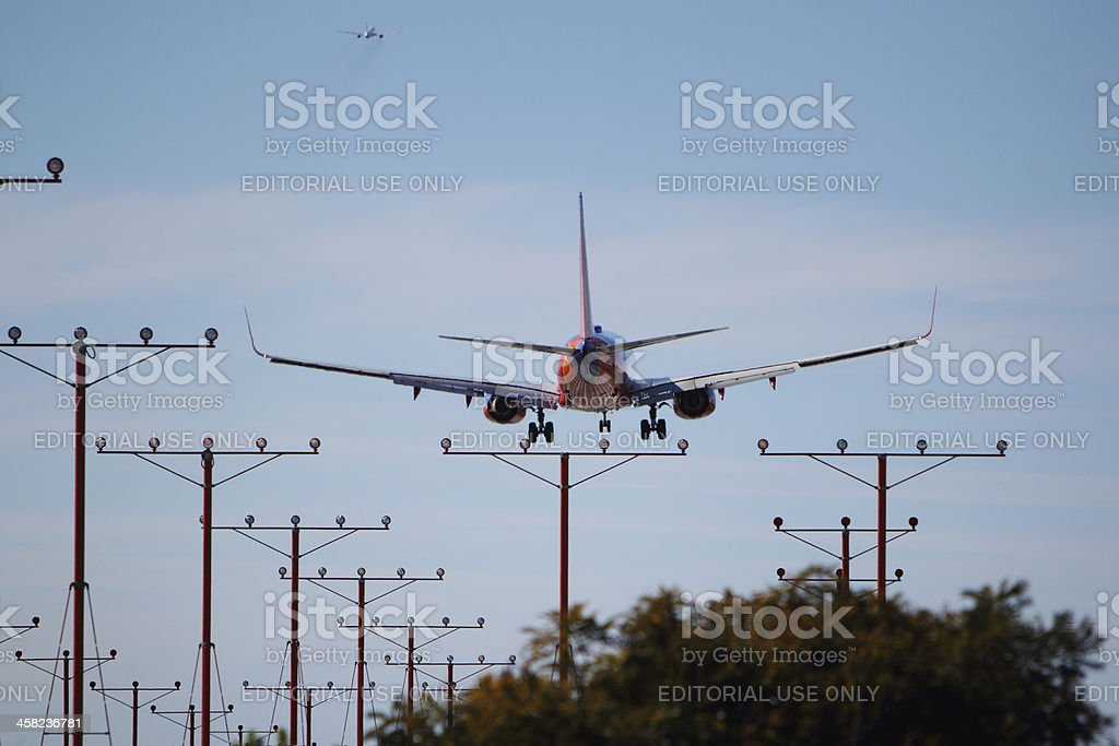 Southwest Airlines Boeing 737-7BX royalty-free stock photo