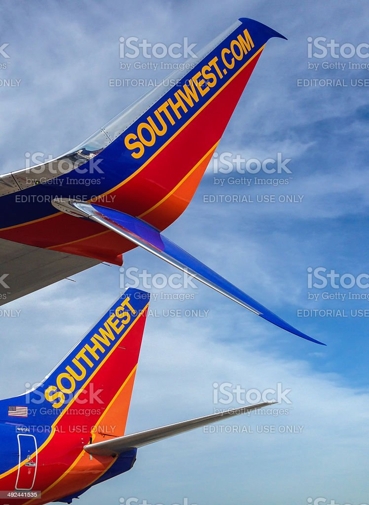 Southwest Airlines Boeing 737-800 with Scimitar winglet stock photo