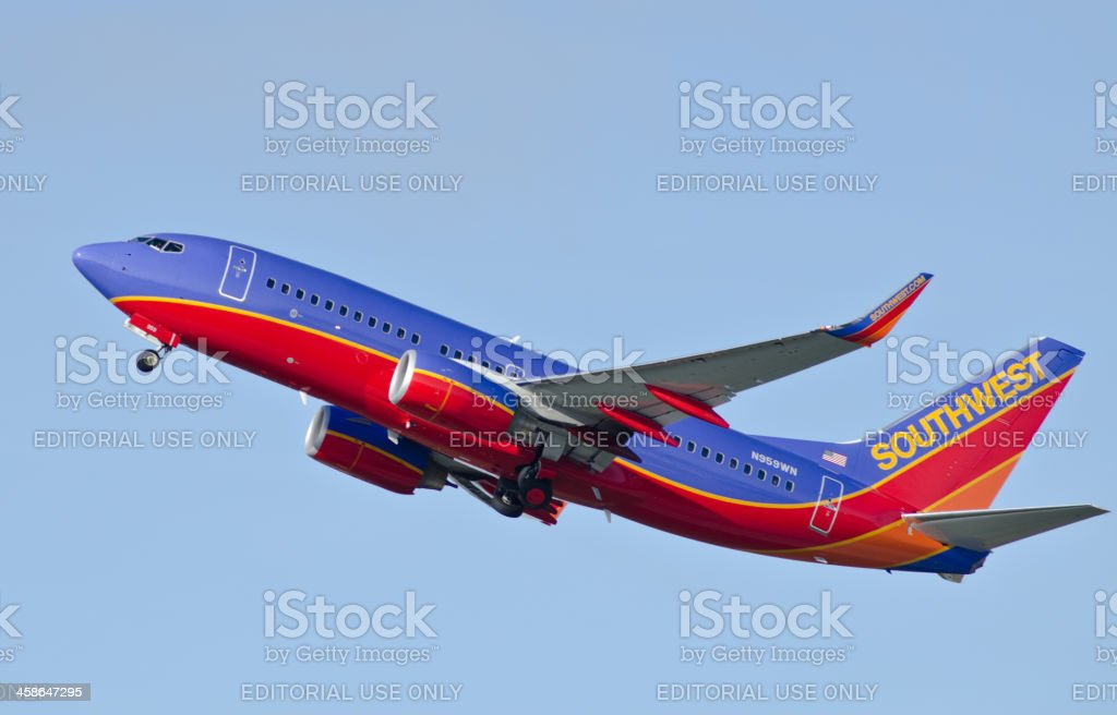 Southwest Airlines passenger jet royalty-free stock photo