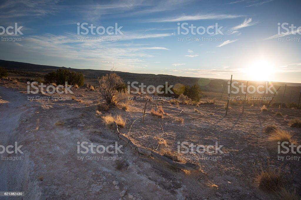 southwest americana landscape stock photo