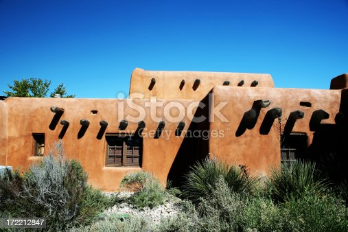 Indigenous sante fe style architecture of New Mexico.