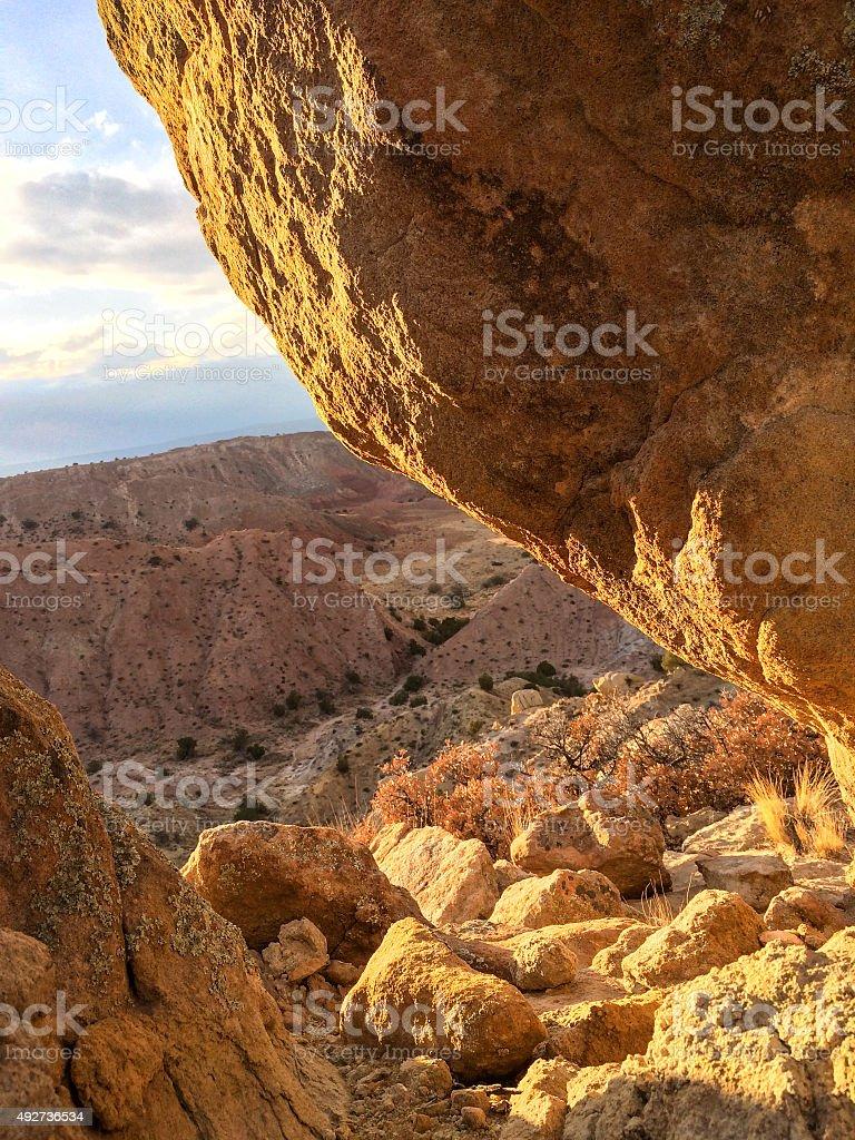southwest desert landscape sunset stock photo