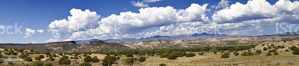 Southwest Desert Panorama stock photo