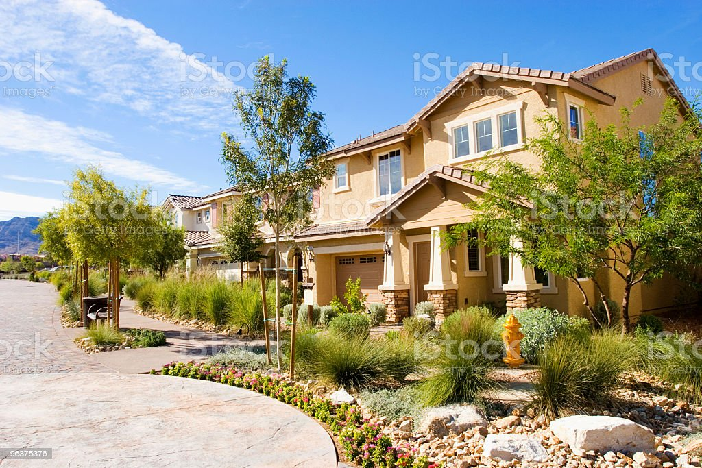 Southwest houses stock photo