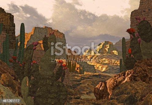 Abandon Southwest ancient Pueblo indian dwellings.