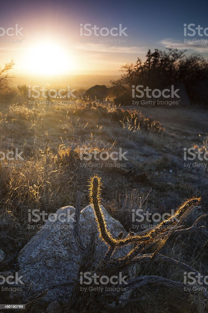 southwest landscape sunset royalty-free stock photo