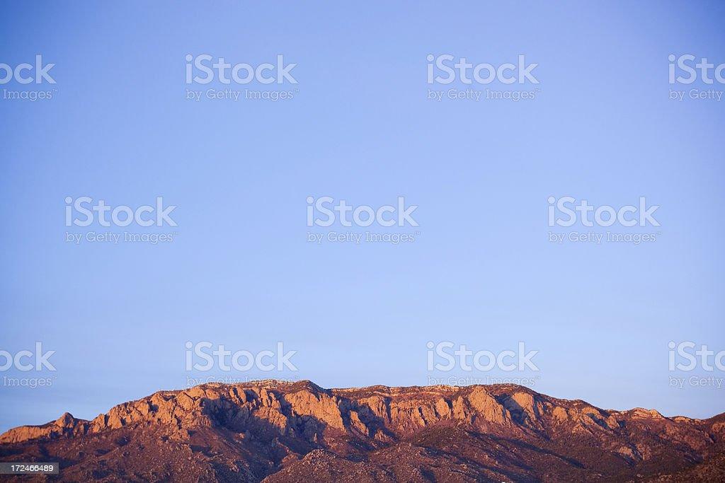 southwest mountain landscape sunset stock photo