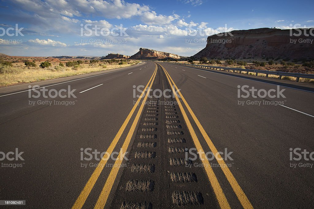 southwest road trip landscape royalty-free stock photo