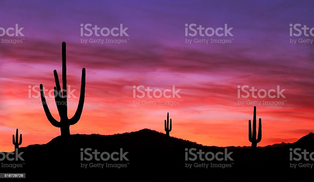 Southwest Sunset stock photo