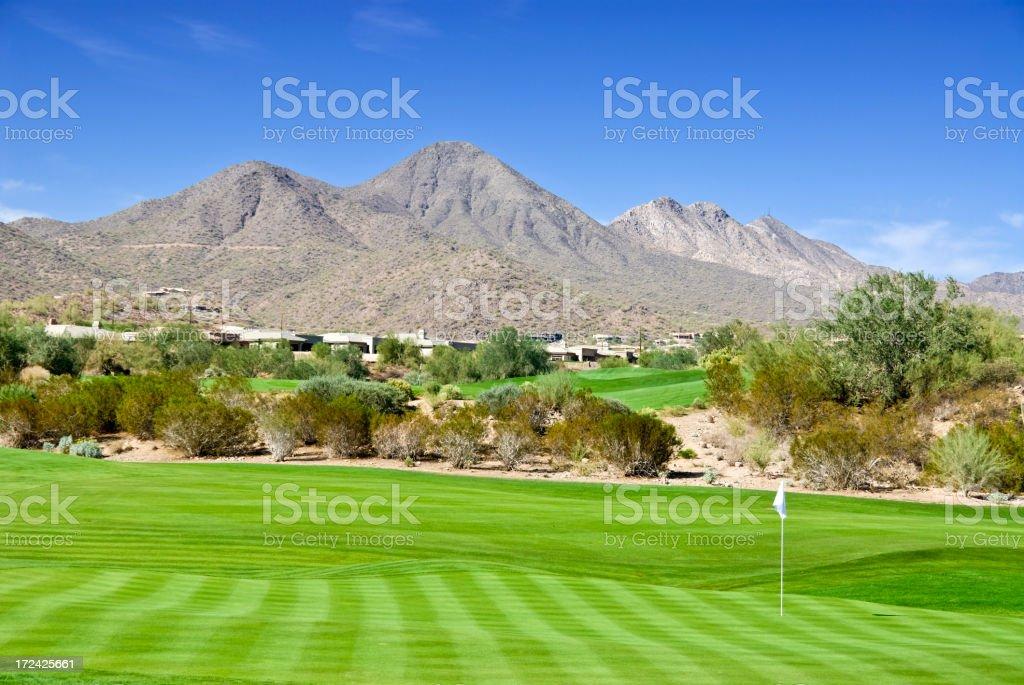 Southwest US Golf Community stock photo