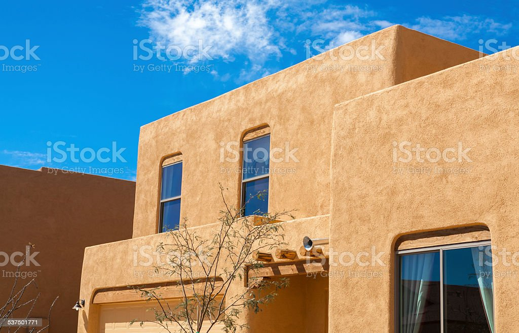 Southwestern arizona adobe residential architecture new for Adobe house construction cost