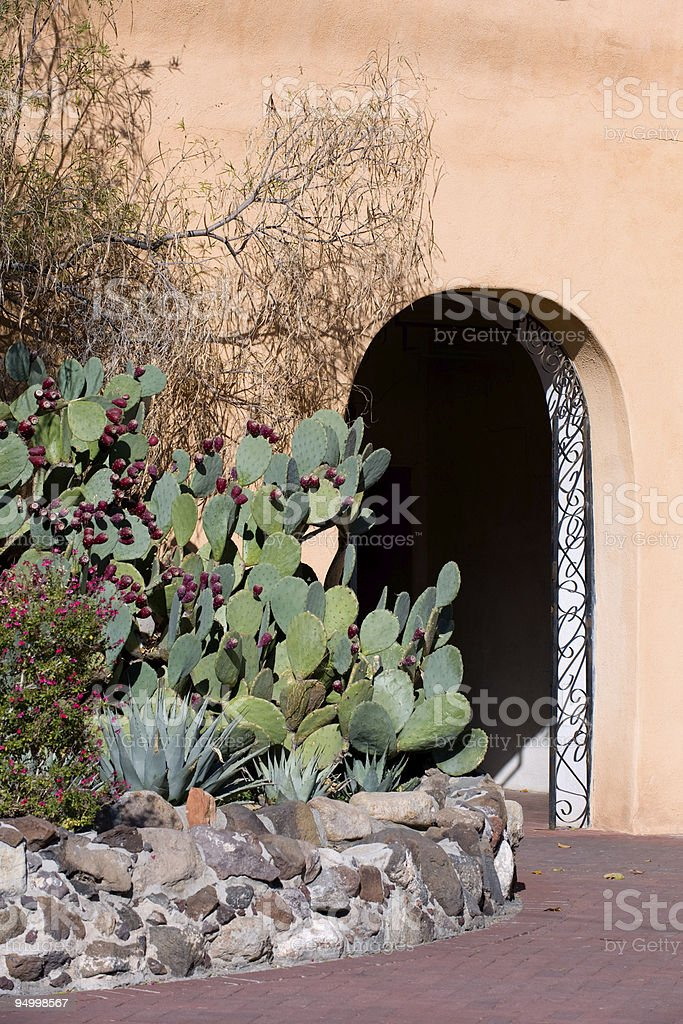 Southwestern doorway royalty-free stock photo