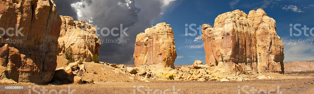 Southwestern Landscape and Beautiful Sky in  New Mexico Banner stock photo