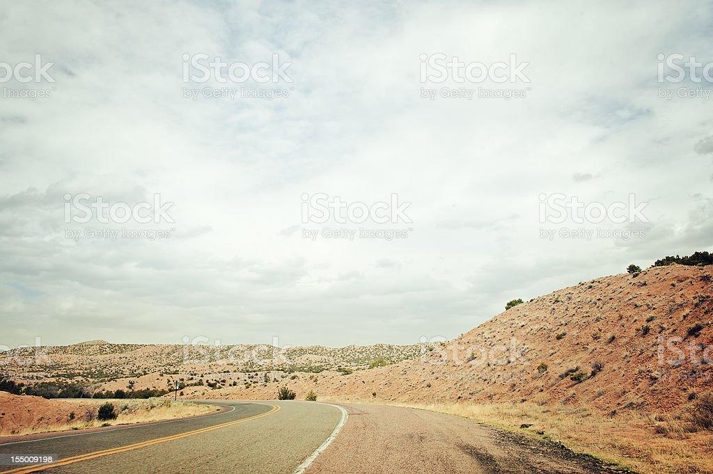 Southwestern Landscape Retro Style royalty-free stock photo