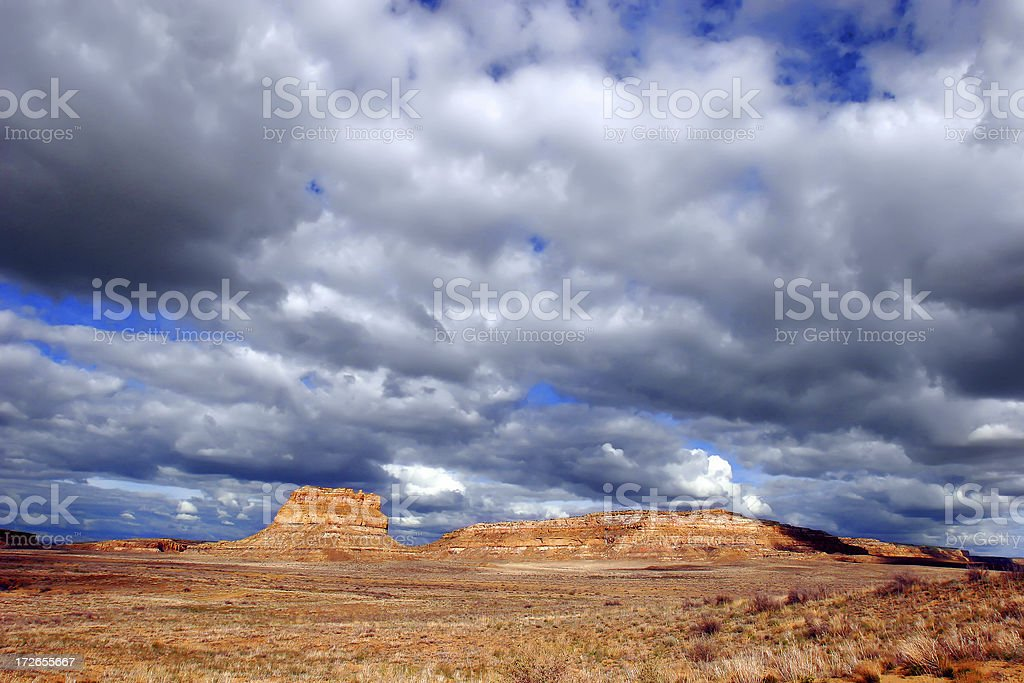Southwestern Mesa Rock Formation royalty-free stock photo