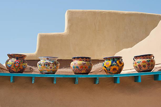 Southwestern Pots on a Ledge