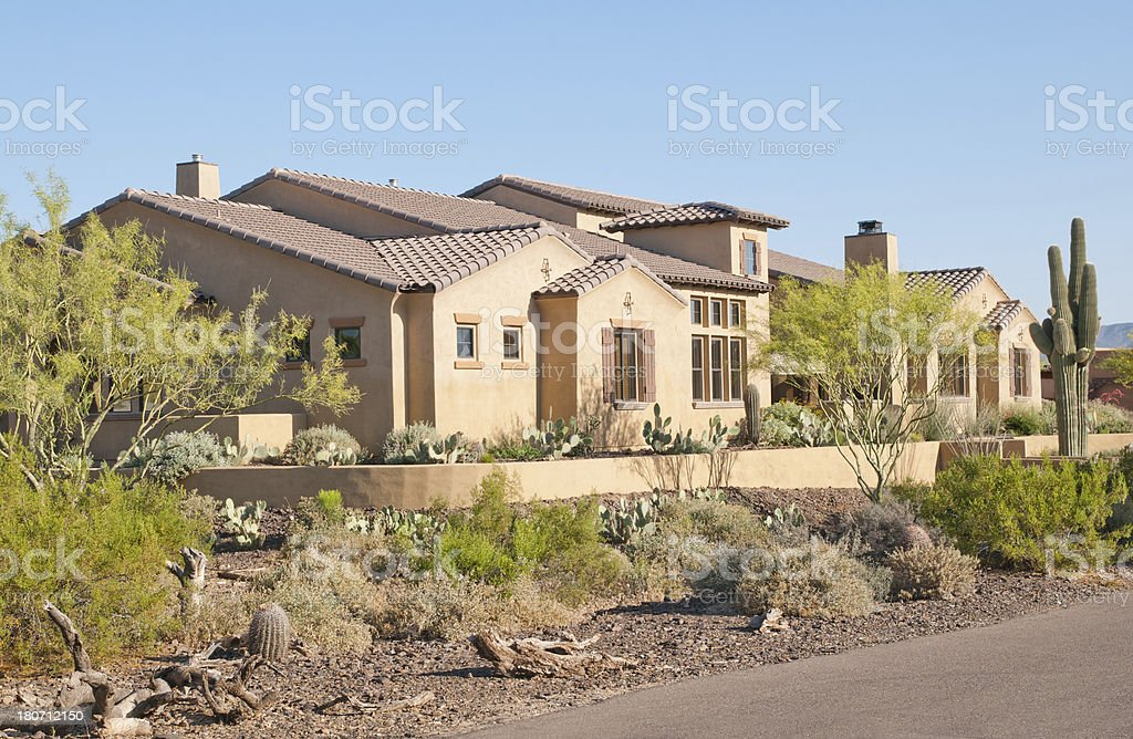 Southwestern Pueblo Style Home stock photo