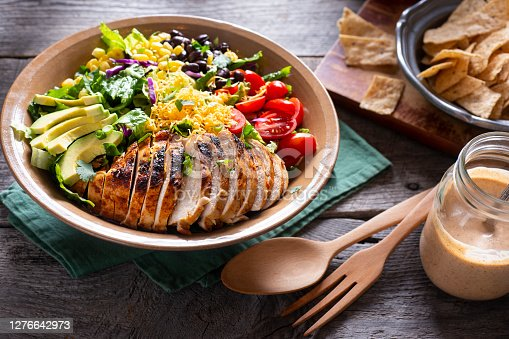 Southwestern Chicken Chopped Salad with Homemade Spicy Ranch Dressing