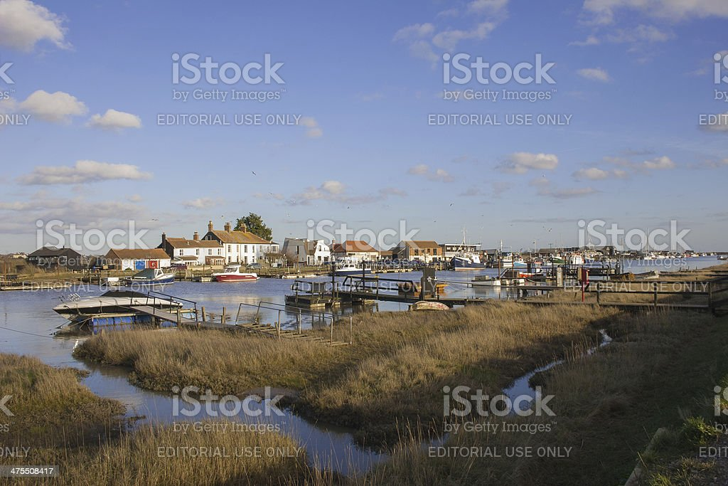 Southwold Harbour stock photo
