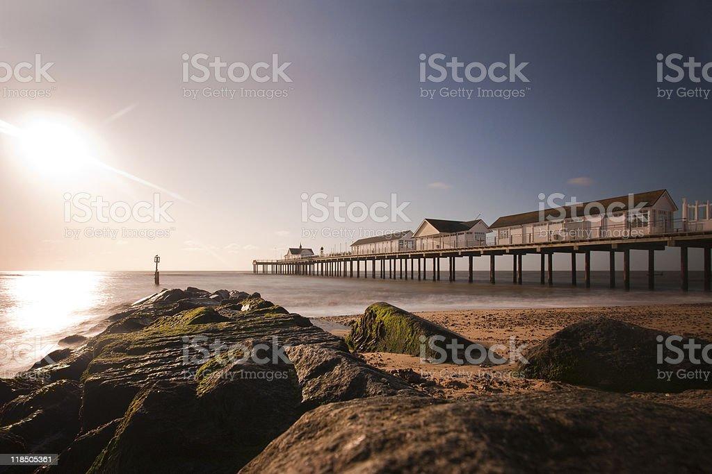southwold pier stock photo
