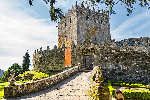 Soutomaior Castle stock photo