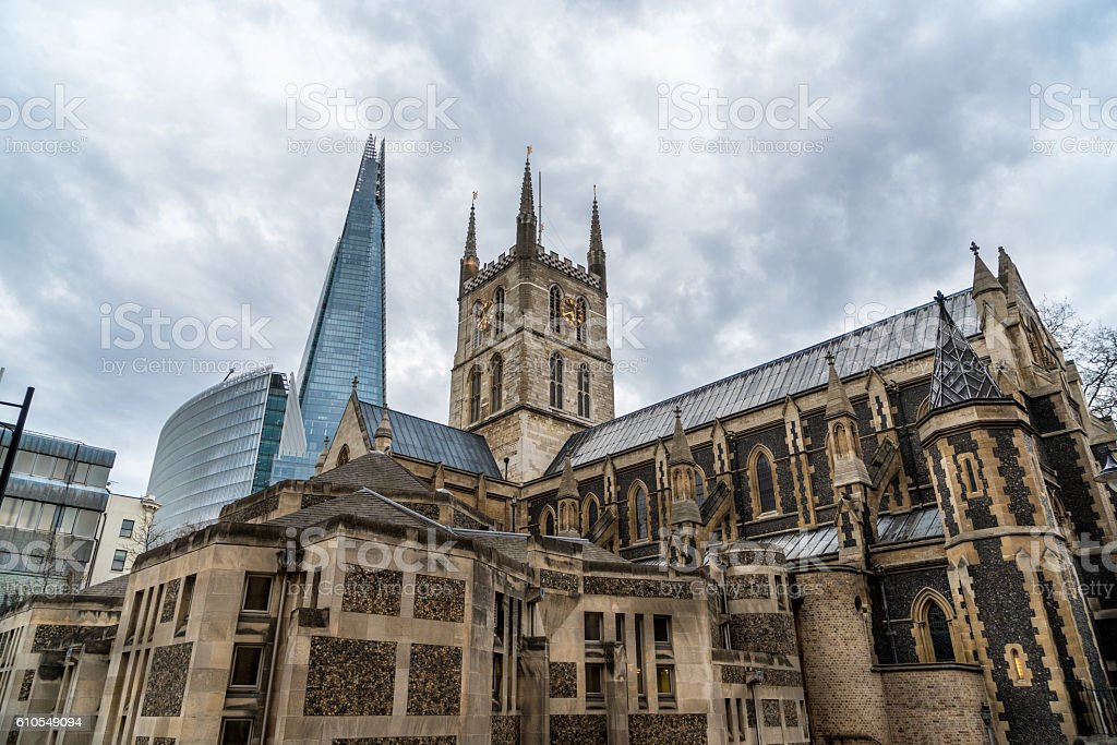 Soutwark Cathedral, London stock photo