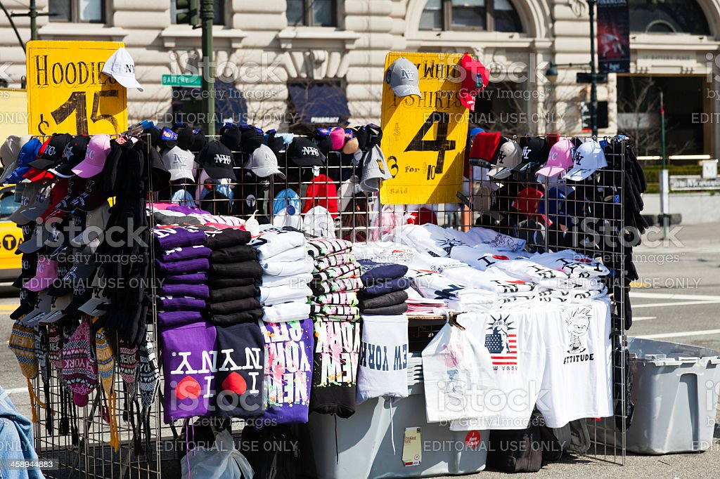 Souvenir Clothing for Sale in NYC stock photo