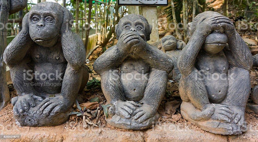 souvenir monkeys stock photo